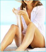 Legs free of varicose veins