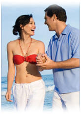 couple on beach after weight loss