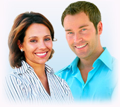 Male and female hair restoration patients