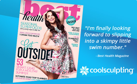 Finally looking forward to slipping into a skimpy little swim number - CoolSculpting in Best Health magazine