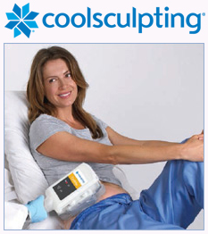 CoolSculpting patient undergoes treatment
