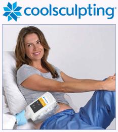 CoolSculpting patient undergoes treatment
