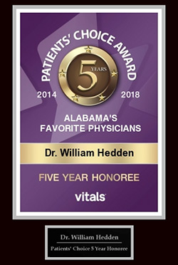Dr. William Hedden Patient's Choice Award 5 Year Honoree